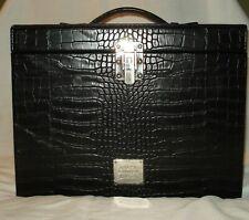 Ralph Lauren Black Leather Cosmetic Parfum Travel Case Train New