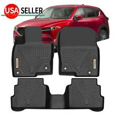 KIWI MASTER Floor Mats Compatible for 2017-2020 Mazda CX-5 All Weather Mat Liners Front Rear 2 Row Seat TPE Slush Liner Black