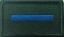Thin Blue Line, Patch, Police, Law Enforcement, Black And Blue, Hook Rear, TBL