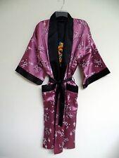 Thai Silk-Blend Adult Robe / Kimono - Mauve Reversible - Unisex XL (New)