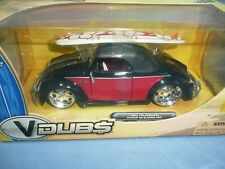 Jada V Dubs 1:24  VW Hebmuller Cabriolet w/ Surf Board