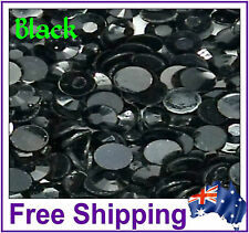 Rhinestones Resin FB 4mm ~ Black ~ 500 Pack By Gypsy Bling ~ Free Post