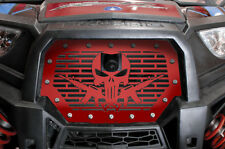 Steel Grille for RIDE COMMAND Polaris RZR 1000 XP 2017+ Grill PUNISHER AR-15 Red