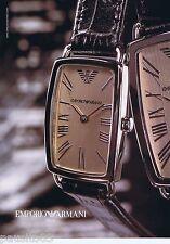 PUBLICITE ADVERTISING 115 2001 Emporio Armani montres 1