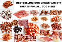 BESTSELLING VARIETY of Dog Treats, Chicken/Duck/Fish/Lamb/Rabbit DENTAL CHEWS