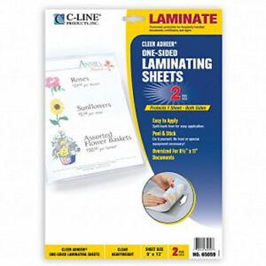 "C-Line Heavyweight 9"" x 12"" Cleer Adheer Do-it-yourself Laminating Sheet 2pk ..."