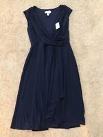 Dressbarn~Women's Size 4~Navy Blue Party Cocktail Summer Dress NWT $39.99
