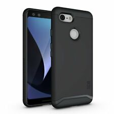 For Google Pixel 3 Case Rugged Dual Layer Protective PC TPU Cover Slim Fit Black