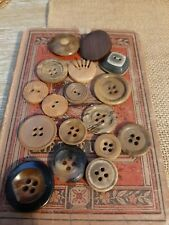 Vintage Buttons Natural And Wooden Some Deco Style