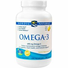 Nordic Naturals Omega-3 Cognition Heart Health and Immune Support, 180 Soft Gels