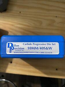 Dillon Precision 14398 10mm/40 S&W Carbide Pistol Die Set - 3 Pack