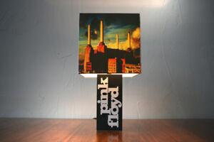 Handmade 'Pink Floyd' Lamp + Album Cover Lampshade - dark side of the moon