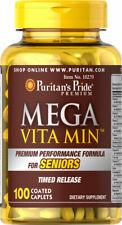 Puritan's Pride Mega Vita Min Multivitamin for Seniors Timed Release 100 Caplets