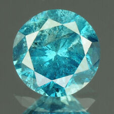 0.34 cts. CERTIFIED Round Cut Vivid Royal Blue Color Loose Natural Diamond 21603