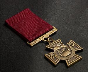 Full Size Replica Victoria Cross Medal & Ribbon. Highest Military Honour. VC