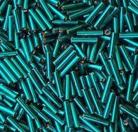 Rocailles Stiftperlen 9 mm Zircon Blau mit SE Glasperlen Schmuck 50g