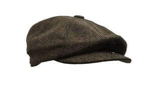 8 panel bakerboy,newsboy,peaky blinder,cheese cutter 1920s 6 pence flat cap