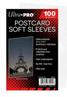 100 x ULTRA PRO Post Card Postcard Protector Sleeves in Sealed Pack 93mm x 146mm