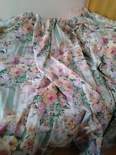 "Dorma Floral Lined Curtains 84"" drop 86"" width"