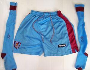 Tony Cottee 1990's West Ham Worn Away Kit Pony Shorts & Socks AFTAL/UACC RD