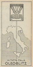 Z3009 In tutta Italia OLEOBLITZ - Pubblicità d'epoca - 1923 old advertising