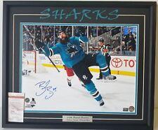 BRENT BURNS Autographed San Jose Sharks Custom Matted & Framed SZ 22x26. JSA