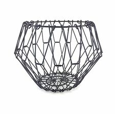 "Wire Basket Black Collapsible Adjustable Home Decoration 7.5""X6.5"" Farmhouse"