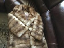 "REDUCED! GENUINE ""STONE MARTIN"" SABLE TRIPLE LENGTH CUSTOM COAT"