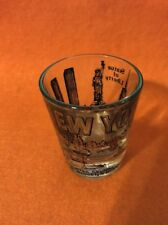 Pre 9/11 New York City Shot Glass Twin Towers WTC Statue of Liberty NY Skyline
