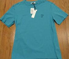 Mens Authentic Versace Collection Logo Crewneck T-Shirt Turquoise Medium $155