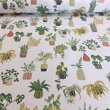 Pot Plant Coral Cotton Fabric by Prestigious Textiles