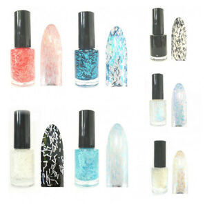 Sticky Style Nagellack Glitter Fäden Feather Effect Nail Polish Feder Look