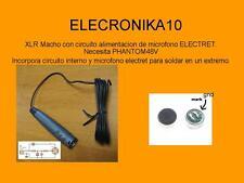 Adaptador Phantom 48V para micro  DIY capsula électret XLR MICROFONO Canon