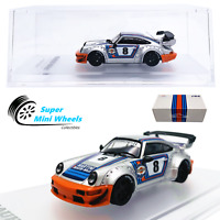 CM-Model 1:64  RWB Porsche 911 (964) Martini - Detachable Wing - Diecast Model