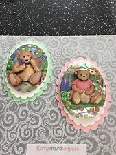 2 x Decoupage Pictures of Bear Theme Toppers