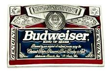BUDWEISER Cintura Fibbia THE KING OF BEERS RED LABEL AUTHENTIC licenza ufficiale