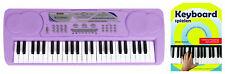 Super Keyboard mit 49 Tasten & 16 Sounds, für Beginner inkl. Notenheft, Lila