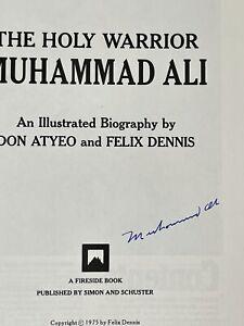Muhammad Ali Signed Vintage And Rare Holy Warrior Book Autographed Auto JSA LOA