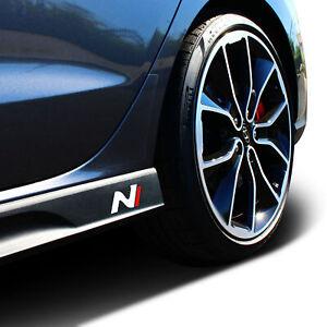 Hyundai i30N Inlay Aufkleber 2er Set Seitenschweller Carbon/Weiß/Rot Folie K055