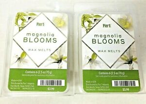 Lot of 2 NWT ~ Pier 1 Imports~  WAX MELTS ~ Magnolia Blooms 2.5