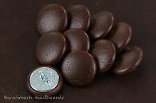 10 Upholstery buttons Antique Dark Brown  leather 25mm
