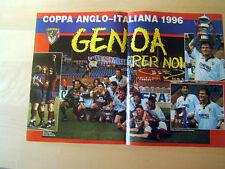POSTER=GENOA PER NOI=COPPA ANGLO-ITALIANA 1996=CM 42X28