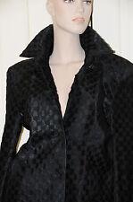 NEW GUCCI Tom Ford ERA Black EXOTIC  Pony GG Guccisima JACKET COAT size 40 RARE!