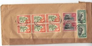 """CEYLON 1940s US KANDANA TO OREGON POSTAGE DUE 10¢ MARKING """"FOREIGN PACKAGE COLL."""