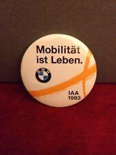 Pin Badge MOBILITÄT IST LEBEN. BMW IAA 1993 MOBILITY IS LIFE. Автомобиль БМВ.