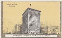 "*Missouri Postcard-""Hotel Statler, St. Louis"" /Washington @ 9th & St.Charles/"