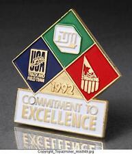 OLYMPIC PINS 1992 BARCELONA USA SWIMMING - USA TRACK & FIELD - FUJI SPONSOR RARE