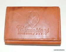 Super Bowl XLVII Champions Tri Fold Genuine Leather Wallet 2012 Baltimore Ravens