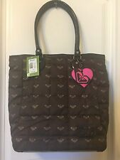 Roxy Large Quilted Tote Brown Shoulder Bag NWT beach Purse