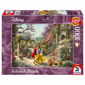Snow White Dancing in the Sunlight: Disney Premium Thomas Kinkade 1000pcs Jigsaw